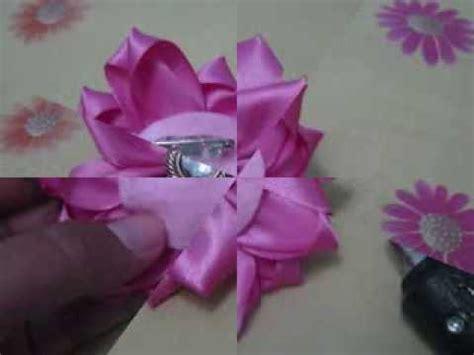 tutorial buket bunga dari pita satin tutorial bros bunga cantik dari pita youtube