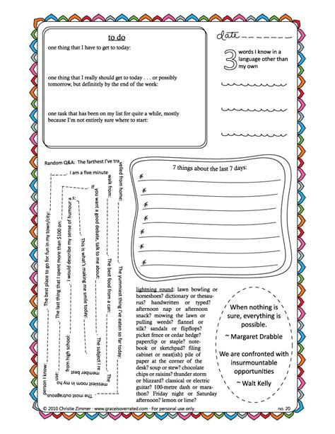 printable book journal pages adventures in guided journaling new journal page