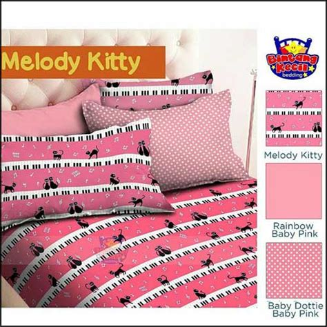 sprei bed cover lucu cantik melody