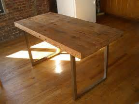Reclaimed Wood Dining Table Diy 6 Diy Tables To Try Poppytalk