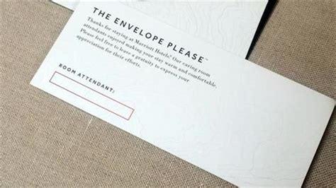 printable housekeeping tip envelopes marriott s housekeeping tip envelopes are tacky one mile