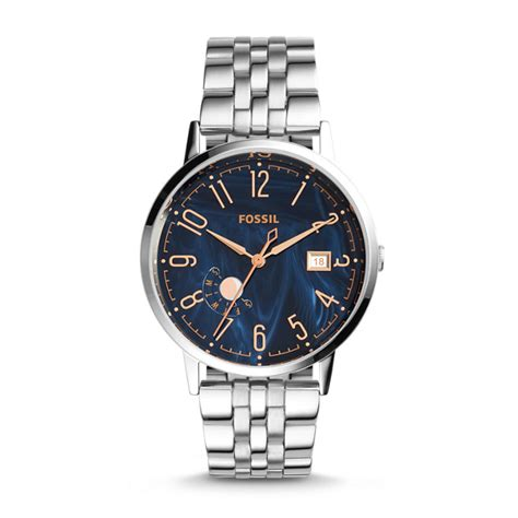 Fossil Vintage Muse Blue Stainless Steel Es3994 vintage muse stainless steel fossil