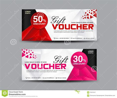 Voucher Promo discount voucher template coupon design ticket banner template stock vector illustration