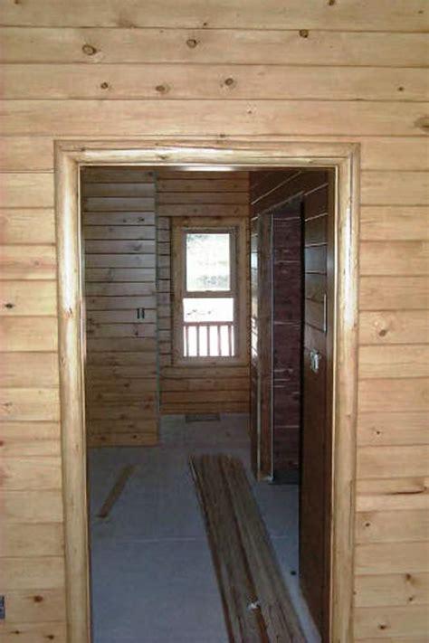 beautiful log cabin log railing log window trim log door