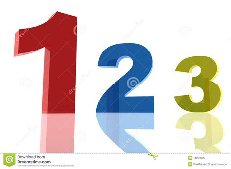 three one one two three number royalty free stock photo image 11923095