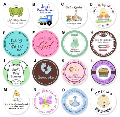 printable stickers for baby shower 24 round baby food jar lid personalized shower label d