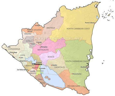 nicaragua maps freeworldmapsnet
