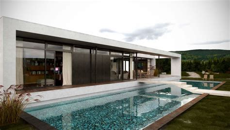 house with pool renders free sketchup 3d model house with pool 37 and vray visopt