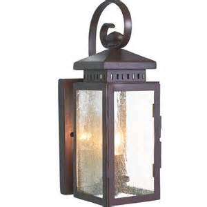 outdoor wrought iron lighting garden wall lantern ip23 in wrought iron with bronze