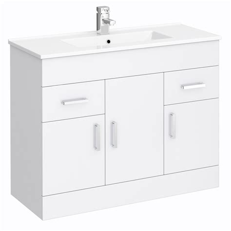 bathroom suites vanity units turin vanity sink with cabinet 1000mm modern high gloss