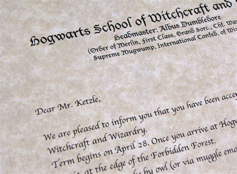Hogwarts Acceptance Letter Invitation Harry Potter In The Forbidden Forest On A Budget