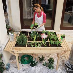 Table Top Herb Garden garden tables help you to grow veggies herbs and flowers