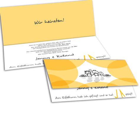 Hochzeitseinladungen Gelb by Hochzeitseinladung Vom Paar Zur Familie Gelb