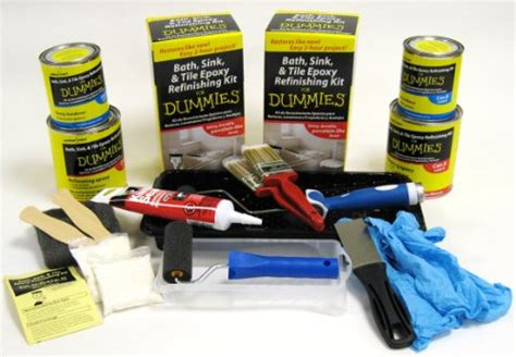 bath sink and tile refinishing kit for dummies shop bath sink tile epoxy refinishing kit for