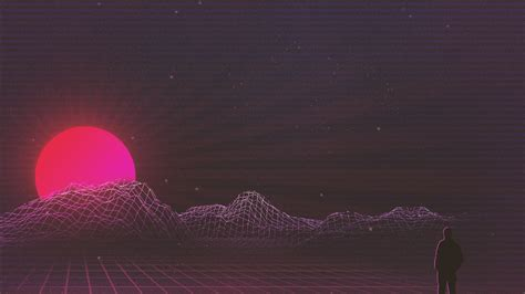 sunset retrowave art wallpapers hd wallpapers id