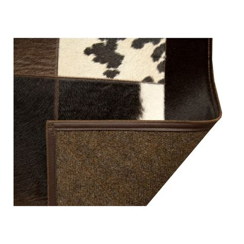 Patchwork Cowhide Leather Rugs - patchwork cowhide white black carpet rug handmade by