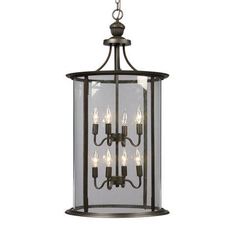 Glass Lantern Pendant Light Shop Galaxy Huntington 18 In Rubbed Bronze Wrought Iron Single Clear Glass Lantern Pendant