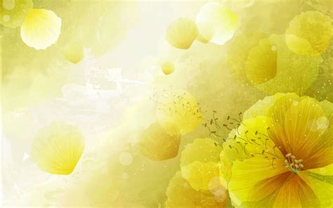 themes yellow beautifully illustrated vector flower backgrounds