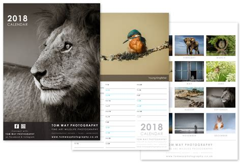 photography calendar layout photography calendar design 2018 modred design
