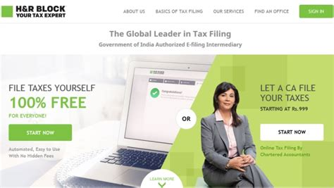 H R Block Cost In Office by Four Websites For Hassle Free Filing Of Income Tax Returns