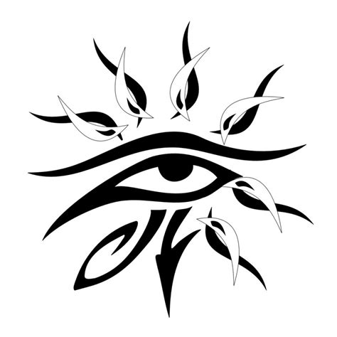 tribal eye tattoos horus eye images designs