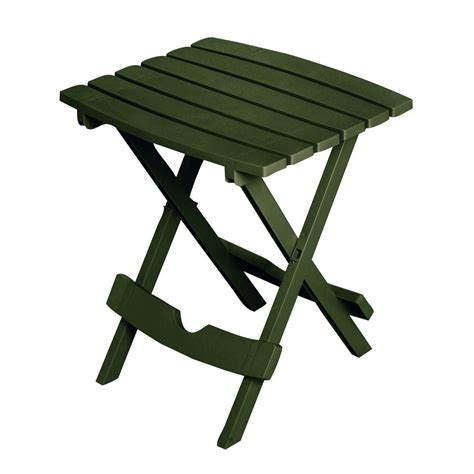 folding outdoor side table folding outdoor side table in earth brown durable plastic
