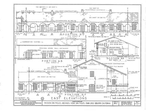 Mission San Carlos Borromeo De Carmelo Floor Plan by Architectural Drawings California Missions Resource Center