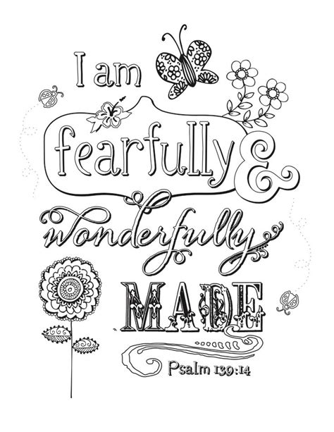 Mobile Psalm 139 14 Coloring Pages Coloring Pages Psalm 139 Coloring Page