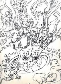 psychedelic coloring book trippy coloring pages and coloring on