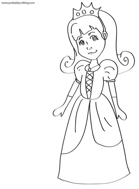 princess clipart coloring page pencil   color