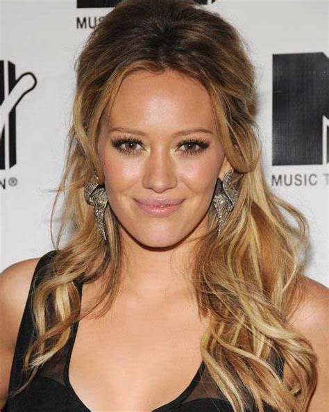 hilary duff long hairstyle hilary duff long ombre effect party fall winter