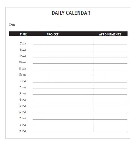 word daily calendar template daily calendar template e commercewordpress