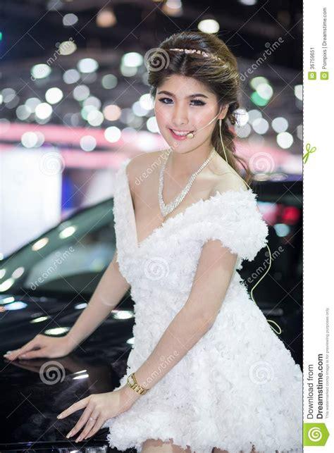 Dress Bangkok Bkk 0023 unkwon model in dress at the 30th thailand international motor expo editorial photo image
