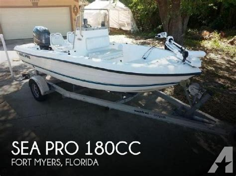 sea pro boats parts 2002 sea pro 180cc for sale in fort myers florida