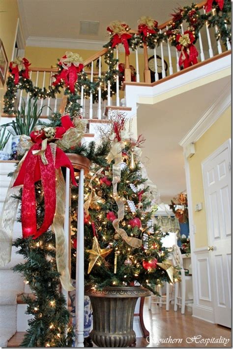 beautiful banisters for christmas debbie s house southern hospitality