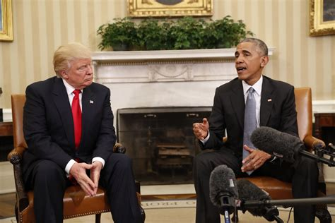 president trump oval office barack obama welcomes donald trump into the white house
