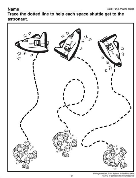 space coloring pages for kindergarten astronaut trace worksheet space pinterest astronauts