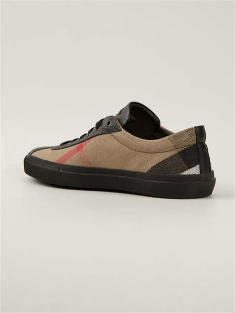 burberry mens sneakers burberry checked sneakers in brown for lyst