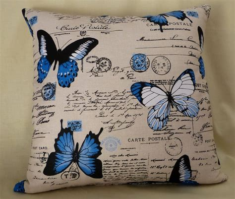 lincraft upholstery fabric blue butterfly cushion monkeybear madeit com au