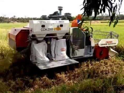 Mesin Panen Padi demo alat panen padi tomcat cch 790