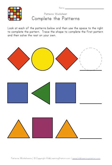 pattern making kindergarten easy preschool patterns worksheet 1 busy bags and