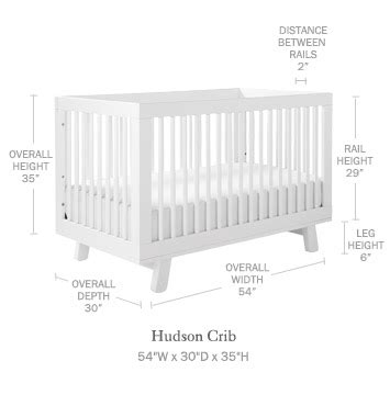 Baby Crib Mattress Dimensions Hudson Convertible Crib Serena