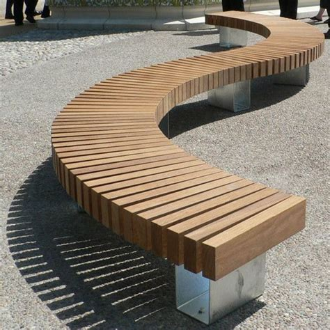 outdoor timber bench seats best 25 curved outdoor benches ideas on pinterest