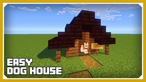 minecraft how to make a dog house minecraft how to build a dog house kennel tutorial easy