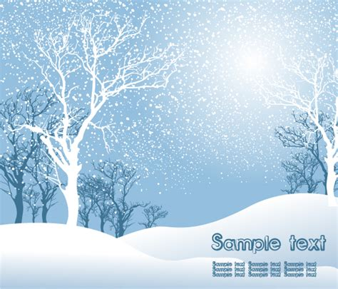 winter trees nature powerpoint templates vector christmas snow free vector 4vector