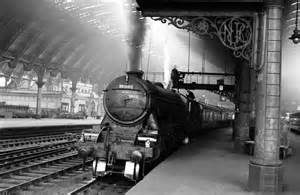 it s full steam ahead on platform 9 at york station in around 1956