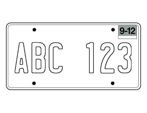 blank phlet template blank california license plate template craft ideas