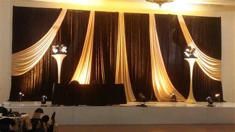 black draping drape hardware equipment rental the phoenix design group