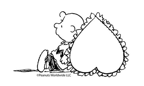 snoopy valentine coloring page a valentine s heart for charlie brown 5 valentine