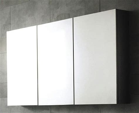 3 door mirror bathroom cabinet 1350x700x150mm hudson